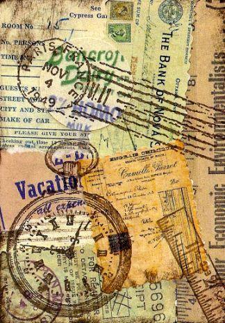 vintage clock n paper