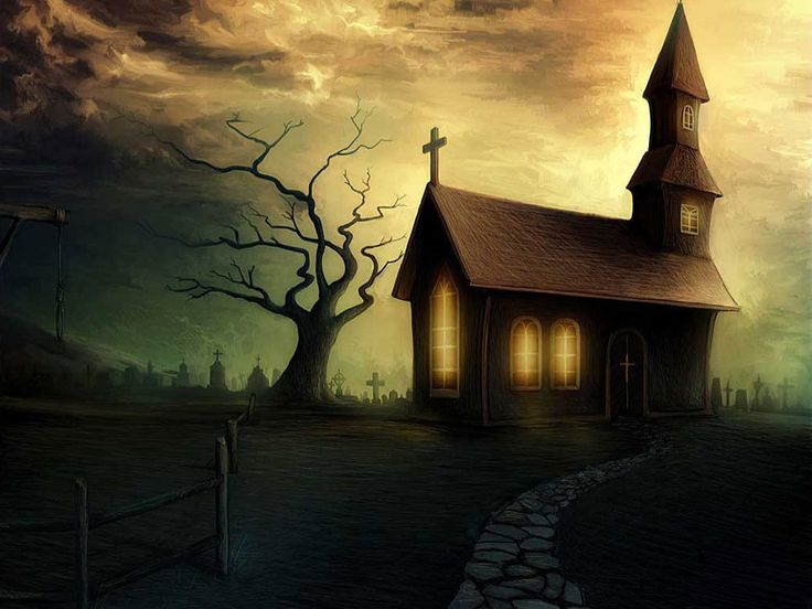 Scary Halloween House 23090 Hd Wallpapers Background - Cartelthemes.com
