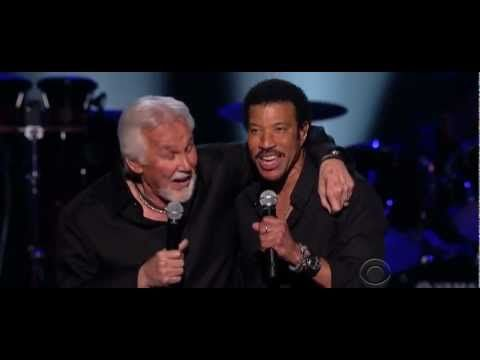 Lionel Richie And Kenny Rogers  Lady  Oh, the memories from hearing this song.  Good ole days ....middle school, I think.  Wow!