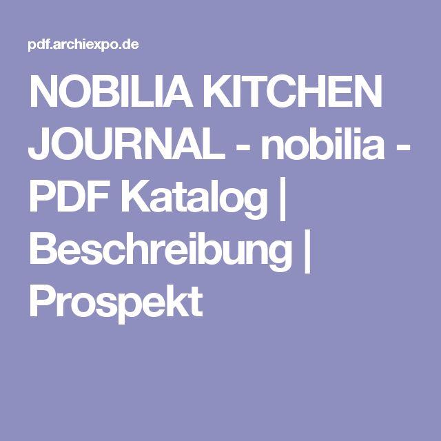 NOBILIA KITCHEN JOURNAL - nobilia - PDF Katalog | Beschreibung | Prospekt