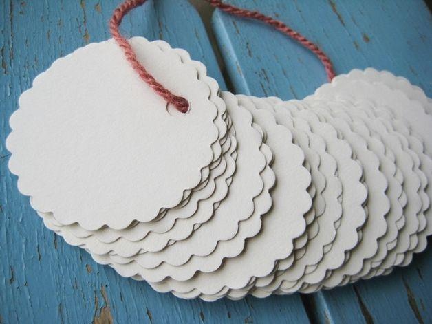 Gastgeschenke - Papieranhänger creme - ein Designerstück von -Nordwind- bei DaWanda