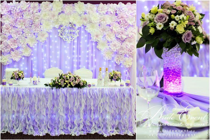 Купить или заказать Фиолетовая свадьба с бумажными цветами и бабочками в декоре в интернет-магазине на Ярмарке Мастеров. Для…