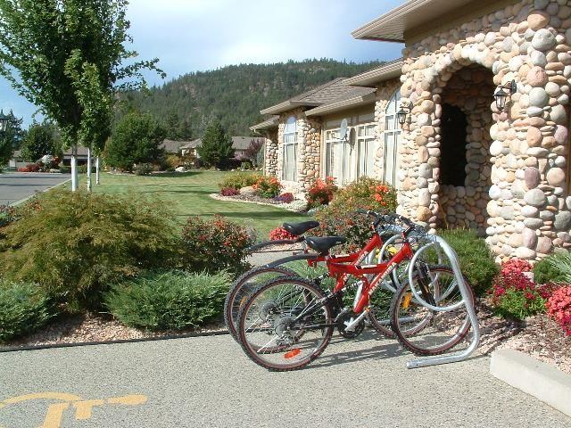 Wishbone 4-space Spiral galvanized #bike #rack in West Kelowna, BC  #streetdesign #landarch #madeincanada