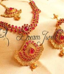 Buy GORGEOUS ANTIQUE KEMP BRIDAL NECKLACE SET necklace-set online