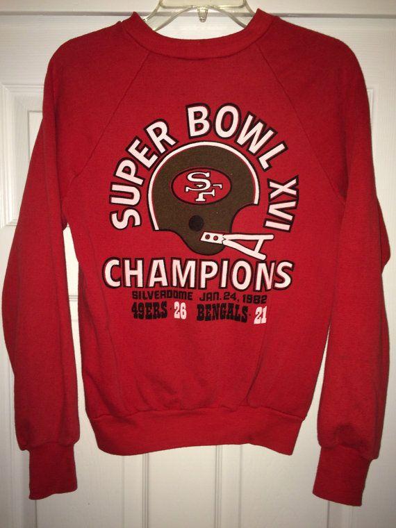 Sale Vintage SUPER BOWL XVI 1982 Sweaters San by casualisme
