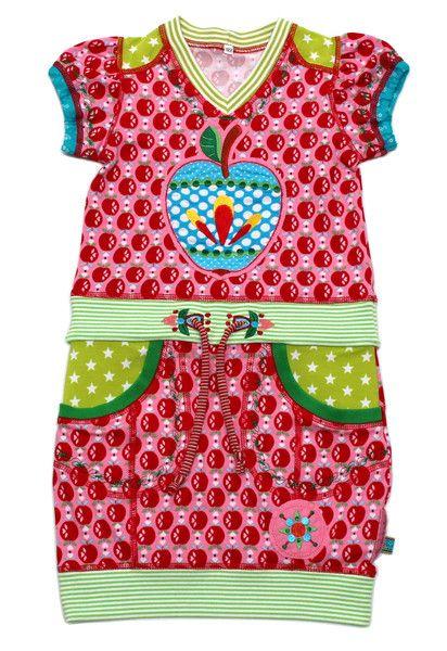 Kleider - Kleid Gr. 122/128 SUNJE Apfel - ein Designerstück von mynata bei DaWanda