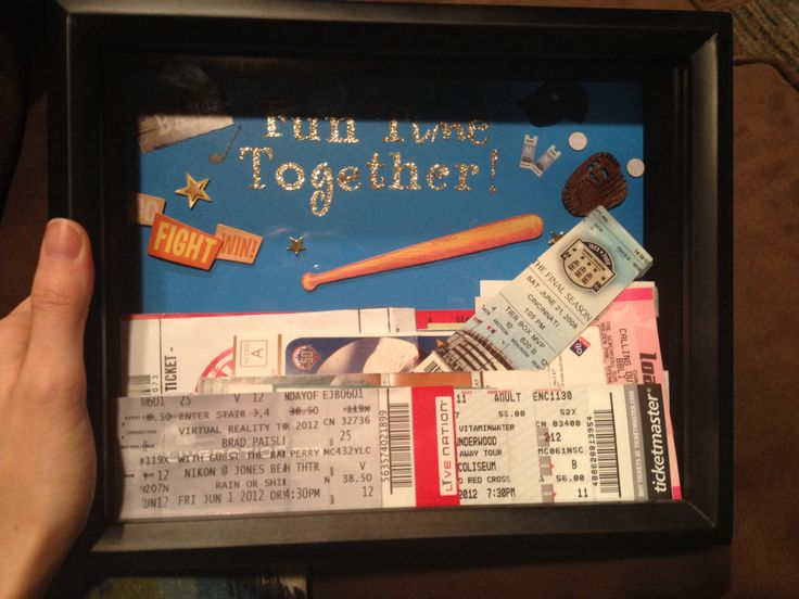 2 of the 2 for 1 shadow boxes at Michaels - filled with concert tickets, and sporting event tickets from over the years.