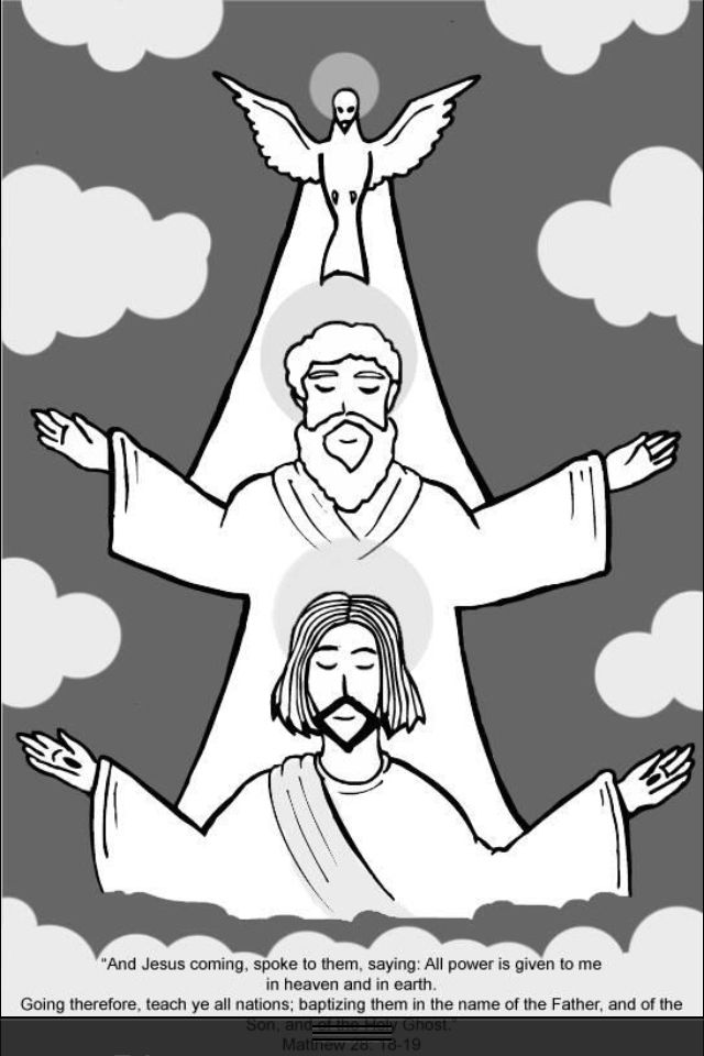 holy trinity coloring pages free - 17 best images about faith filled coloring pages and