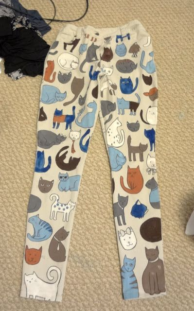 @Angie Treasure @Whit Cahoon diy cat pants... CAT PANTS!