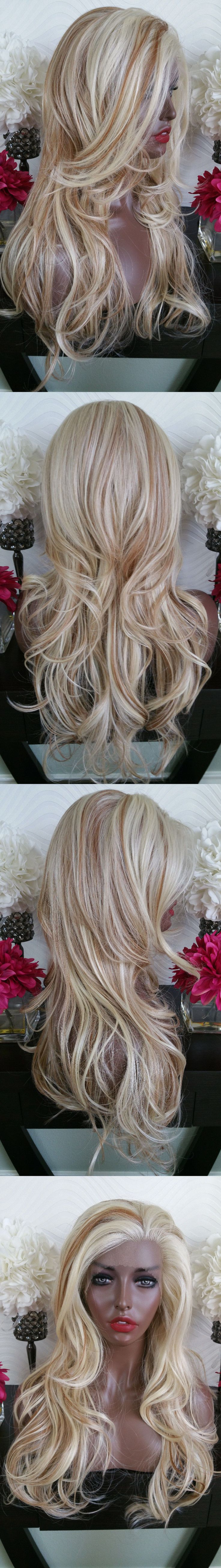 Wigs and Hairpieces: Beautiful Platinum Blonde Auburn Mix Lace Front Wig Long Wavy Heat Safe -> BUY IT NOW ONLY: $138.75 on eBay!