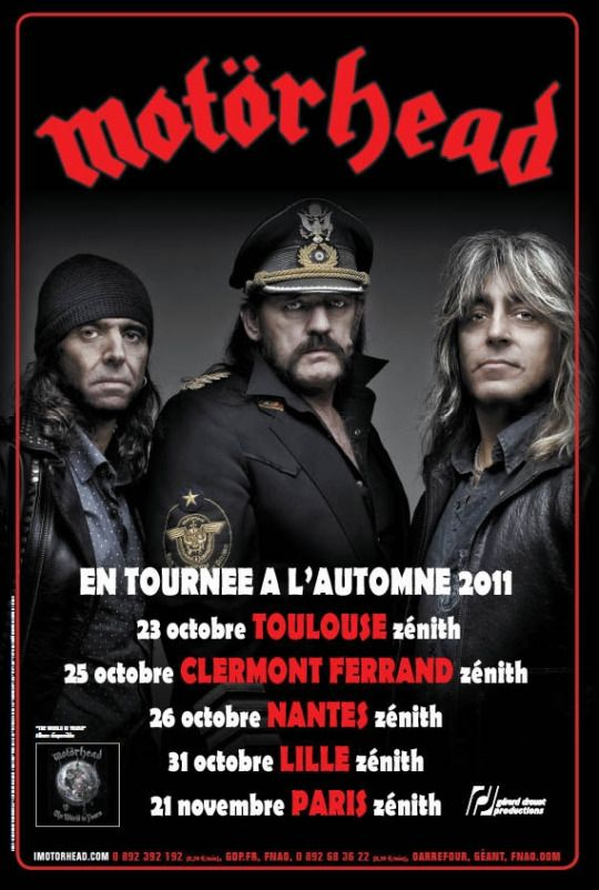 Motorhead Tour Poster from 2011