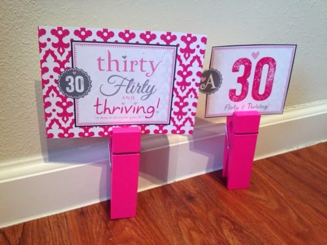 2 Girls, 1 Year, 730 Moments to Share: 30th Birthday Decor Theme Thirty Flirty and Thriving, MakeLifeCute Shop, Etsy