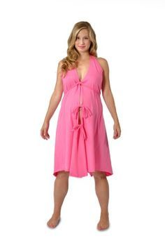 hot pink maternity dress 08