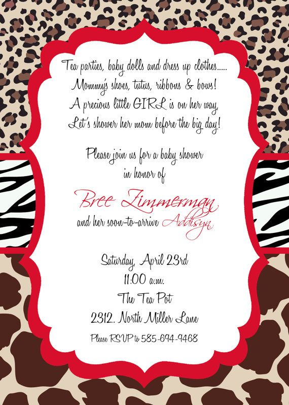 28 best animal print images on pinterest | animal prints, birthday, Birthday invitations