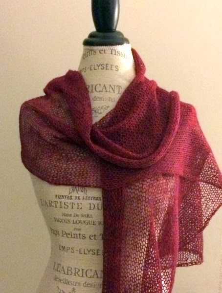 Etherial Shawl Free Knitting Pattern - NobleKnits Knitting Blog. Super easy but perfect everyday wrap