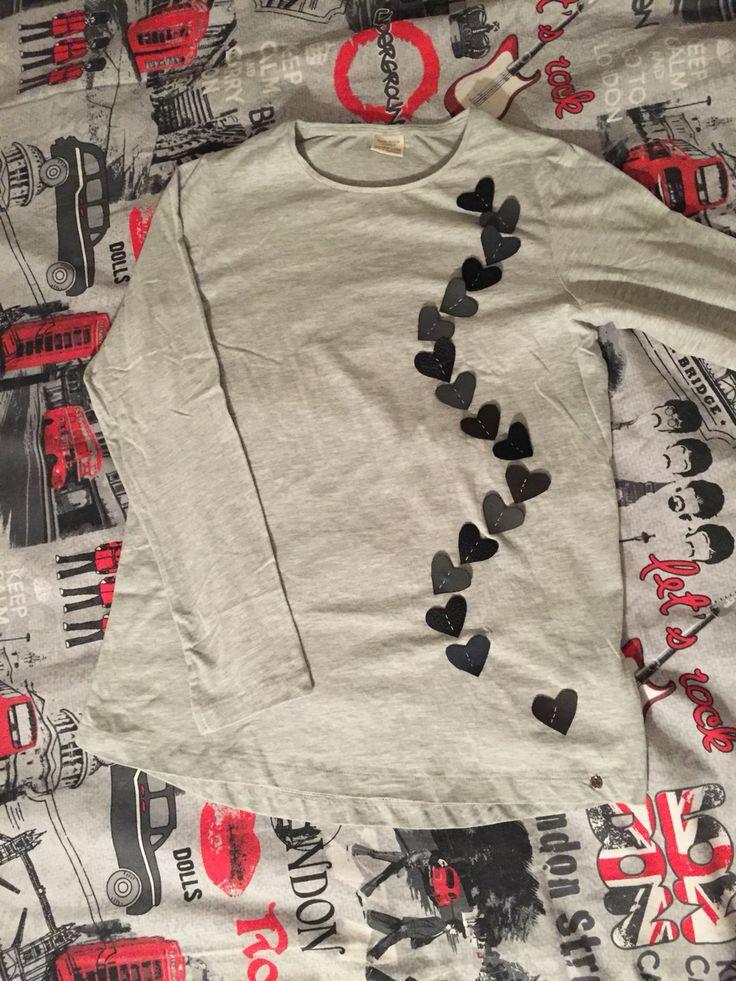 #maglietta #cuori #handmade #diy #cucito #ricami