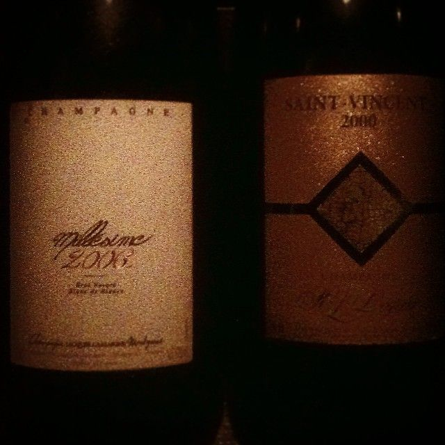 Wonderful way to finish Friday! St. Vincent '00 and Lassaigne '06 #geist #legras #2000 #lassaigne #2006 #friday