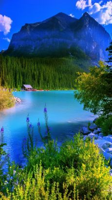 Wallpaper of Beautiful Mountain, Cloud, Lake, Small Town Countryside Scenery Backgrounds for Mobile Phone & Hand Phone such as iPhone and Android Phone & Tablet Devices. Beautiful Nature Pictures, Amazing Nature, Nature Photos, Pretty Pictures, Beautiful Landscapes, Beautiful World, Beautiful Places, Nature Wallpaper, Wallpaper Backgrounds