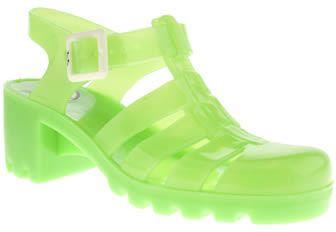 Ju Ju Jellies Juju Jellies womens juju jellies green babe sandals on shopstyle.com.au