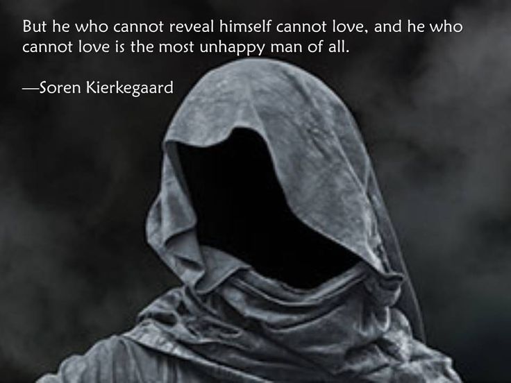 BUT HE WHO CANNOT REVEAL HIMSELF CANNOT LOVE.AND HE WHO CANNOT LOVE IS THE MOST UNHAPPY MAN OF ALL