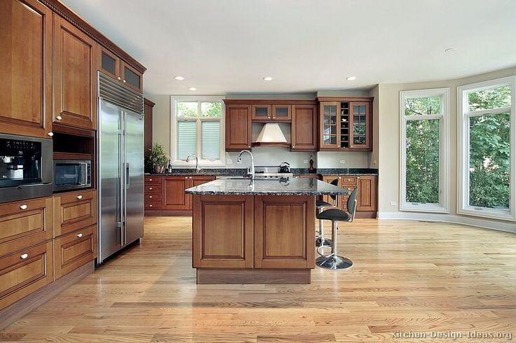 Best Kitchen Of The Day Warm Inviting Medium Brown Kitchen 400 x 300