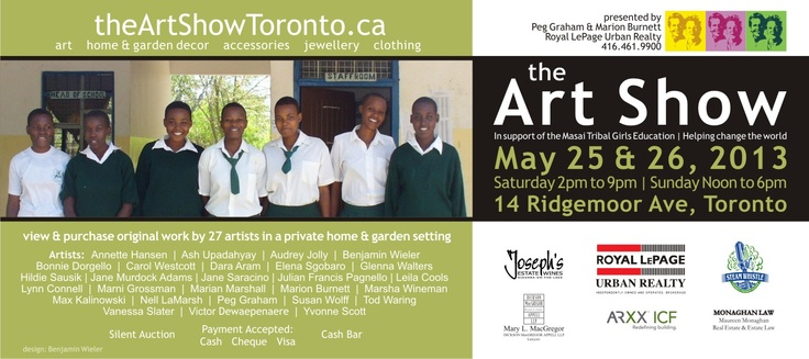 This is the invite for this year's art show.  May 25th and 26th.