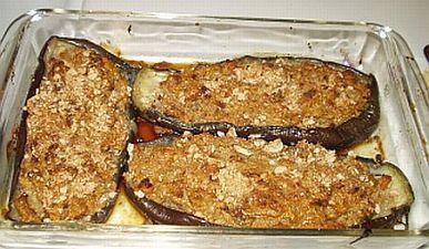February inspiration for eggplant challenge - MALTESE BRUNGIEL MIMLI (Stuffed Eggplant)