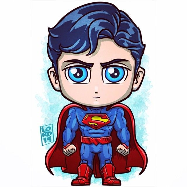 cute superman flying drawing - photo #13