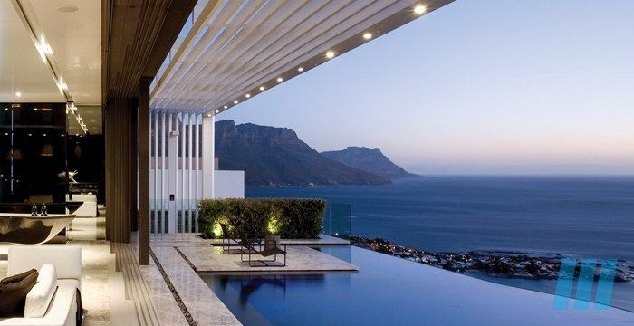 FutureSpaces - Nettleton 198 - Clifton. The site enjoys spectacular views, both of the sea and Lions Head and these views and the impact of the sun were key informants contributing to the overall design.
