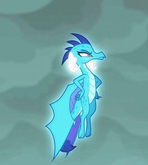 #1134575 - animated, dragon, gauntlet of fire, hovering, princess ember, safe, screencap, spoiler:s06e05 - Derpibooru - My Little Pony: Friendship is Magic Imageboard