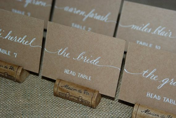 Escort Cards - Wedding Name Place Cards - Table Cards - Custom Hand Calligraphy - Coordinating Envelope Addressing Also Available