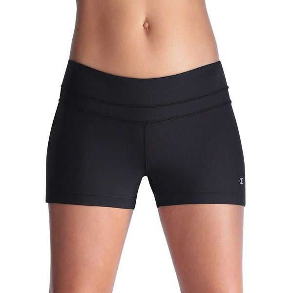 Champion Double Dry Absolute Workout Shorts - Women's ($22) ❤ liked on Polyvore featuring activewear, activewear shorts, shorts, bottoms, work out, black, logo sportswear, champion activewear and champion sportswear