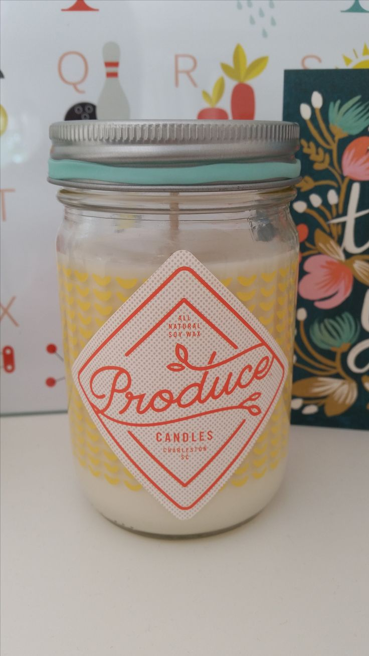Bougie Produce Candles senteur melon http://pastelshop.fr/shop/bougie-melon-produce-candles/