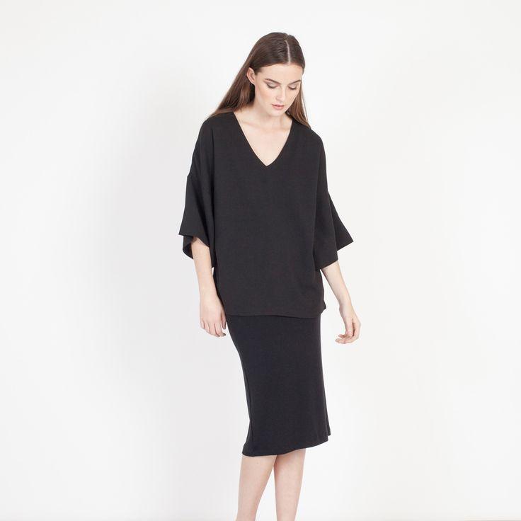Lana French Terry Skirt (Black)