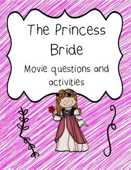 The Princess Bride includes: Fun movie questions and activities about the movie. Buy the document and choose the ativities you want to use #princessbride # princess # bride # book #moviequestions #movie