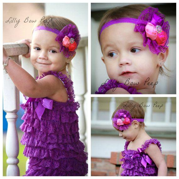 Hey, ho trovato questa fantastica inserzione di Etsy su https://www.etsy.com/it/listing/176730643/purple-lace-petti-romper-vintage-flower
