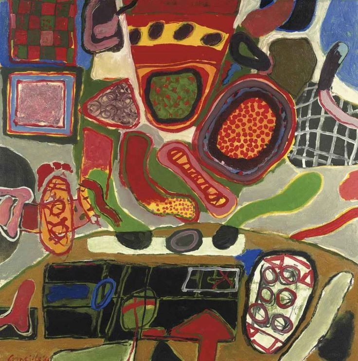 """"""" Corneille (Dutch, 1922-2010), La sarabande de l'eté, 1966. Oil on canvas, 89.5 x 90 cm. """""""
