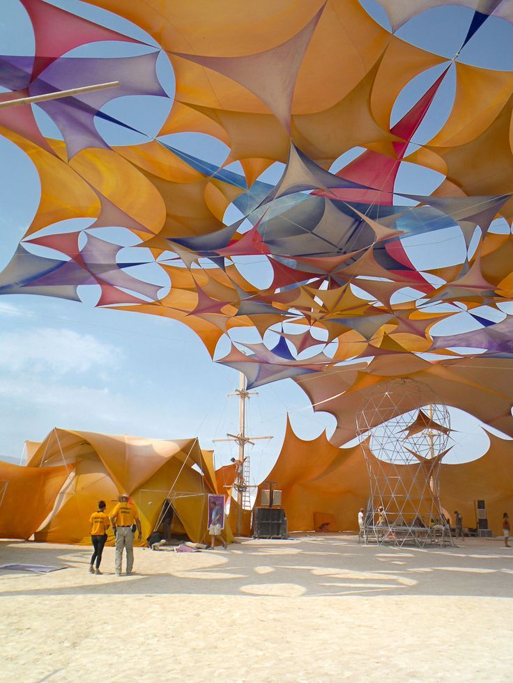burning man tension shade structure - Google Search