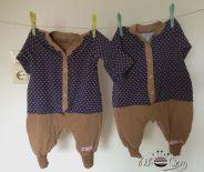 Freebook Sleepy Leon - eigentlich ein einteiliger Schlafanzug aber lässt sich auch zum Hausanzug oder Outdooroverall abwandeln.