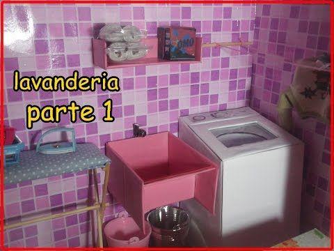 COMO FAZER MAQUINA DE LAVAR ROUPAS , TANQUE ETC... P/ BARBIE, PARTE 1 - YouTube