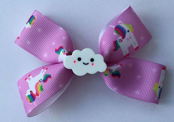 Kleine Boutique Haar Bogen-Wolken Bogen  rosa Haaren Bogen