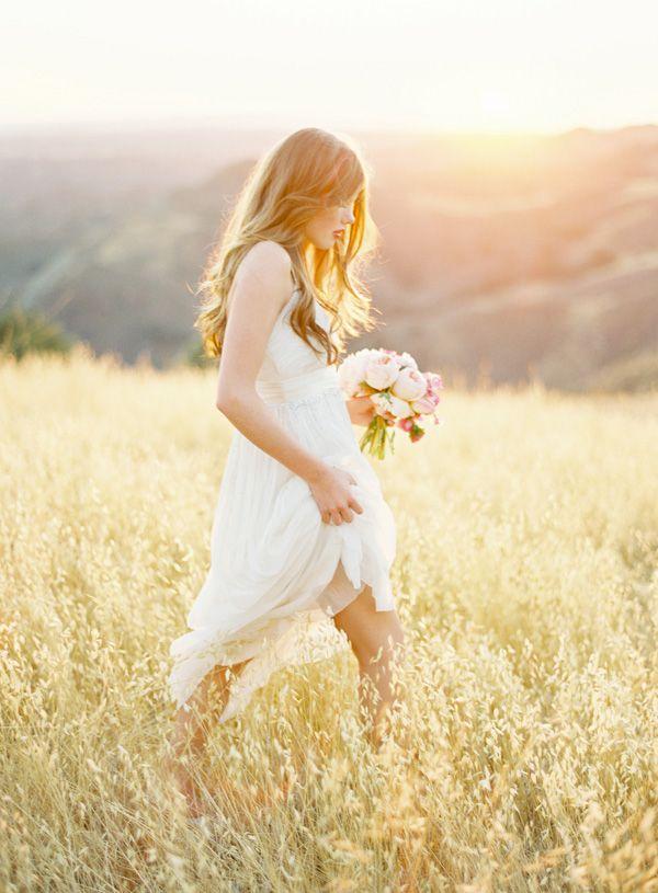 Dreamy Lighting and a bohemian bridal dress