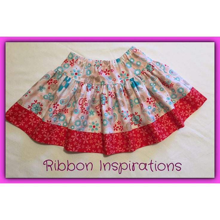 Size 9 Boo! designs twirly skirt in quilting cotton.