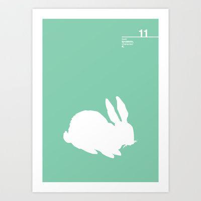 11_lprabbits_K Art Print by Iris & Floss - $18.00