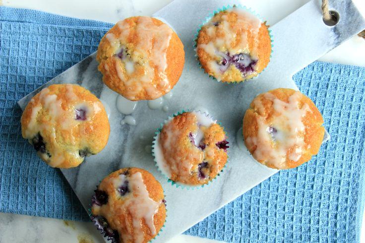 Citroen blauwe bessen muffins