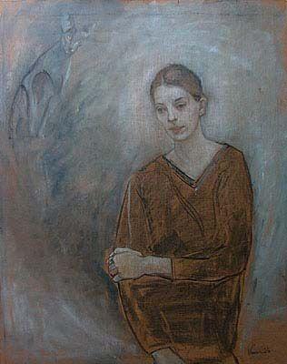 Drømmeren, 120x95, olje/pastell