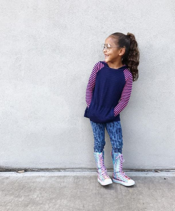 Ruthie Ridley's little girl wearing Twinkle Toes.