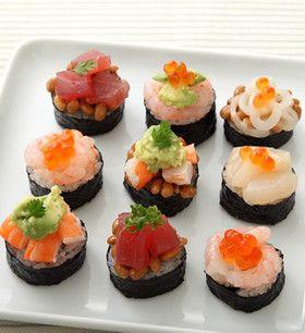 えびと納豆のおつまみ寿司