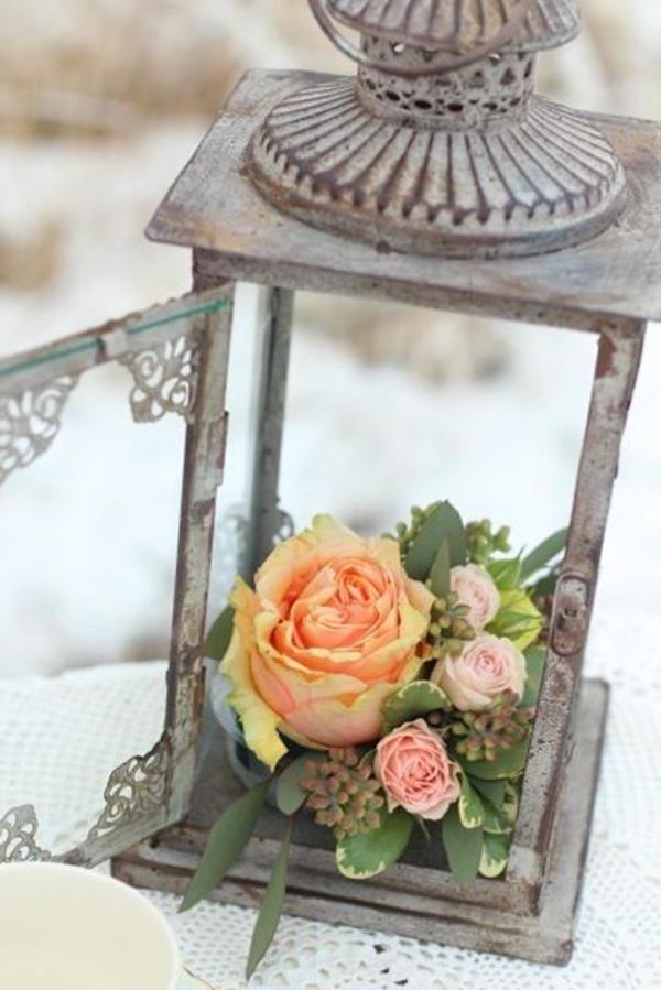 Blumen in einer laterne hochzeit pinterest vintage