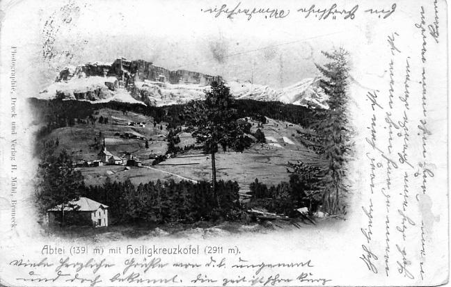 FotoLadinia le foto della Val Badia e delle Dolomiti - Cartoline/Badia 1906